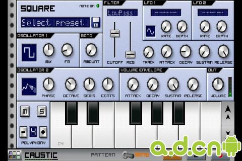 音乐合成器 CAUSTIC 2