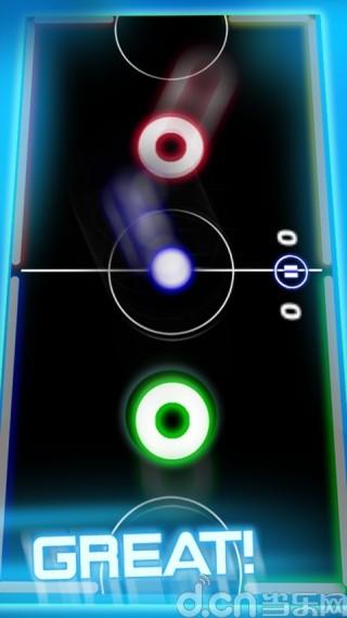 桌上冰球 Air Glow Hockey Deluxe|玩動作App免費|玩APPs